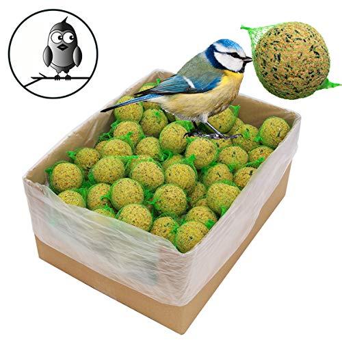 200 x 90 g =18 kg Meisenknödel mit Insekten mit Netz Vogelfutter 4 Jahreszeitenknödel Wildvogelfutter Ganzjahresfutter Fettfutter