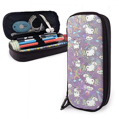 Estuche para lápices Color Uni-corn Organizador de papelería de gran capacidad Almacenamiento Bolsa de maquillaje Bolsa Titular de la caja con cremallera