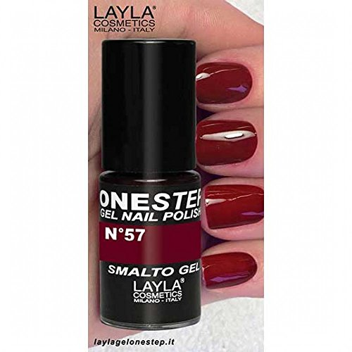 Layla Cosmetics One Step Gel Nail Polish, Bellissimo Red, 1er Pack (1X 5ML)