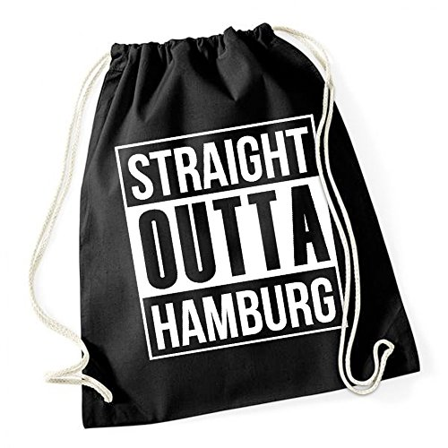 Certified Freak Straight Outta Hamburg Gymsack Black