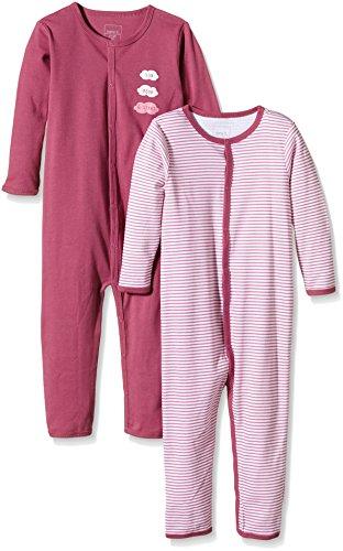NAME IT NAME IT Baby-Mädchen NITNIGHTSUIT M G NOOS Schlafstrampler, Mehrfarbig (Red Violet), 98 (2er Pack)