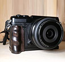 Wood Hand Grip Holder for Fujifilm GFX 50R Camera L Plate Bracket Wooden Handmade Handle