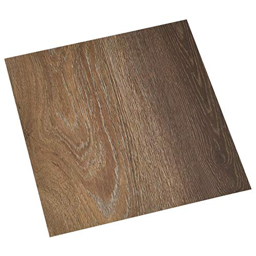 Tidyard 55 STK. PVC-Fliesen Selbstklebend Vinyl-Fliesen Bodenbelag Vinylboden Laminat Dielen Laminatboden Fußboden 5,11 m² Braun