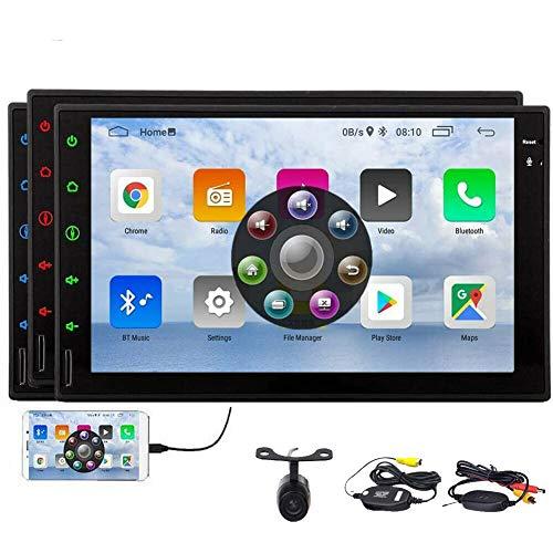 EINCAR Touchscreen Autoradio mit Bluetooth 7 Zoll Android 10.0 Head Unit In Dash GPS-Navigationssystem unterstützt Rückfahrkamera 4G WiFi OBD2 Spiegelverbindung USB SD Aux Lenkradsteuerung