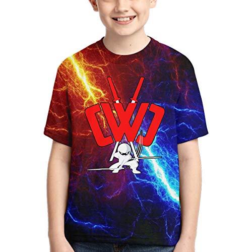 LaXie Child C-w-c Shirt Boys Girl 3D Print Short Sleeve Tees XL Black