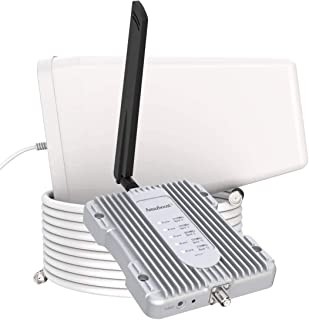 Amazboost Cell Phone Booster for Home -Up to 2,500 sq ft,Cell Phone Signal Booster Kit,All U.S. Carriers -Verizon,AT&T, T-...