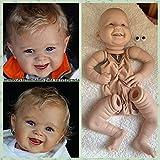 Zero Pam Muñecas Reborn sin Pintar 50cm-55cm Kits de muñecas Reborn para niños pequeños (sin características de género) Incluye muñeca DIY (extremidades, Cabeza, Cuerpo y Ojos) (1934 Ojos Azules)
