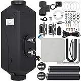 HODOY Riscaldatore Digitale 5Kw Termostato Diesel Riscaldatore Elettrico 12V Riscaldatore Elettrico a Gas Per Camper Camper e Autobus (12V 5Kw Con Doppio Silenziatore)