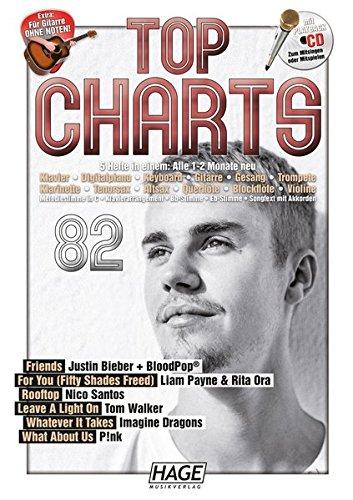 Top Charts 82 (mit CD + Midifiles, USB-Stick): Die aktuellsten Hits der erfolgreichsten Stars und das Beste aus den Charts!