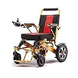 Y-L Ancianos Discapacitados 2019 Ligero Plegable Compacto Silla de Ruedas Eléctrica Deluxe Potente Asistente de Movilidad de Doble Motor Silla Eléctrica
