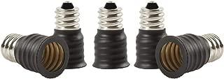 Electop E12 to E14 Socket Adapter Converter,Candelabra E12 Base Convert to European Intermediate E14 Base(5 Pack)