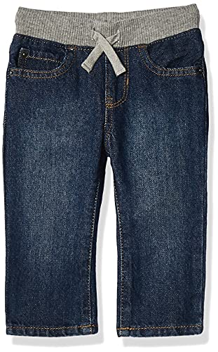 The Children's Place Boys Baby and Toddler Pull On Straight Jeans, Liberty Blue, 2T