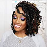 Tiana Passion Twist Hair 10 Inch 7 Packs Ombre Brown Pre-twisted Crochet Hair Pre-looped Passion Twist Braiding Hair Hair Extensions (10 Inch (Pack of 7), T1B/30)