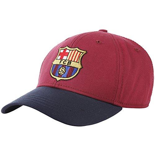 FC Barcelona - Casquette Officielle - Adulte (Taille Unique) (Bordeaux)