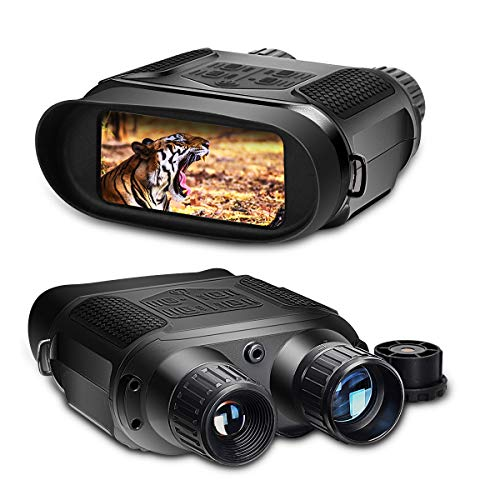 "SOLOMARK Night Vision Binoculars, 7X Digital Infrared Binoculars for 100% Darkness - 1280x720p HD Photo Camera Video Recorder - 4"" Large Screen & 1300 ft / 400m Viewing Range (NV250)"
