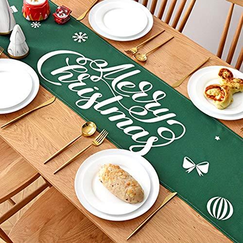 CNYG Mantel rectangular de Navidad, mantel de poliéster, cubierta de mesa de...