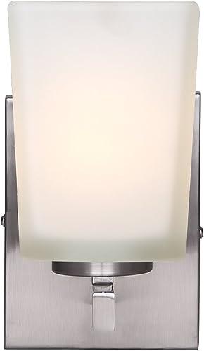 lowest Canarm online sale LTD IVL472A01BN Hartley 1 Light Vanity, Brushed Nickel with Flat Opal Glass, online Oil Rubbed Bronze outlet sale
