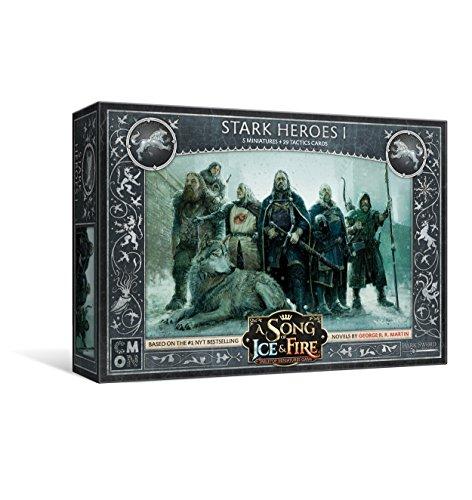 Cool Mini or Not-Game of Thrones Una canción de Hielo y Fuego: Juego de miniaturas de Mesa – Stark Heroes Box 1, Colores Variados, (CoolMiniOrNot SIF109)