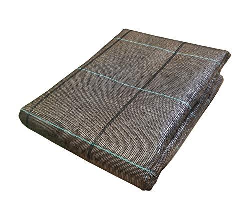 Seinec Malla Antihierbas Premium Marrón 2x5m de Ocultación. Resistente a roturas con Proteccion UV para el Control de Maleza en Jardín y Huertos Ecológicos, Ocultación. Polipropileno (PP)