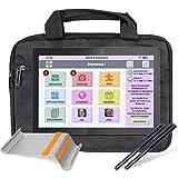 FACILOTAB Pack L Rubis - WiFi - 32 Go - Android 9 - Lenovo - Support, Sacoche, 2 Stylets - Tablette simplifiée pour Seniors