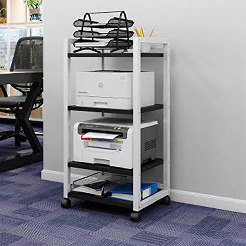 Soporte de Impresora Capa Ajustable Distancia Impresora Estantería Esquema de Escritorio Oficina Multi-Capa Movible Movible Creative Storage Rack para Horno Microondas