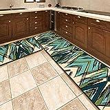 OPLJ Küchenmatte Anti-Rutsch-Türmatte Modernes Wohnzimmer Balkon Badezimmer Geometrisch bedruckter Teppich Waschbare Fußmatte A3 40x120cm