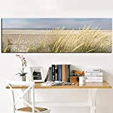 KWzEQ Seascape Beach Landscape Painting Wall Art Poster Picture Living Room Home Decoration Wall Art Painting,Pintura sin Marco,30x90cm