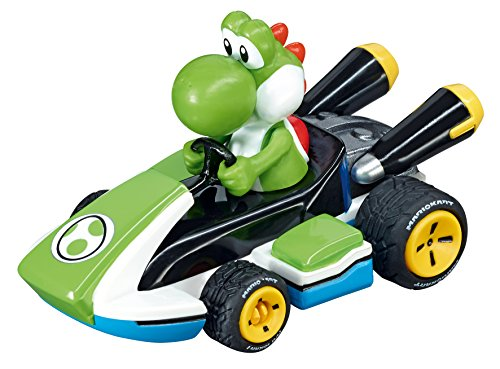 Carrera 64034 Mario Kart - Yoshi 1:43 Scale Analog Slot car Vehicle for GO!!! Electric and Battery Slot car Racing Track Sets