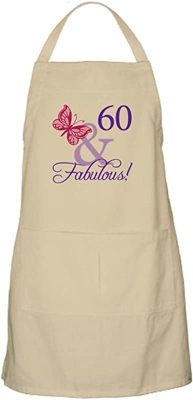 CafePress 60Th Birthday Butterfly Kitchen Apron With Pockets Grilling Apron Baking Apron