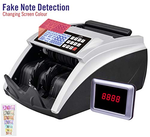 GOBBLER 401-MV Semi-Value Note Counting Machine with Fake Note Detection with Large LCD Screen | Counts all New & Old Notes