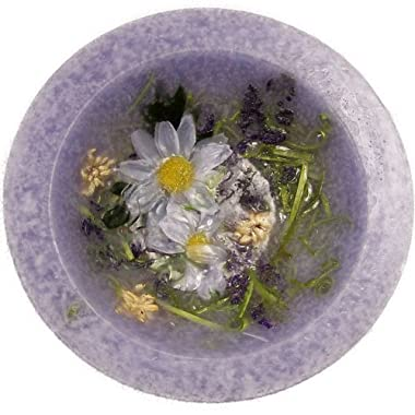 Lavender and Chamomile Scented Flameless Decorative Candle - 7  in Diameter - Comes in Gift Box