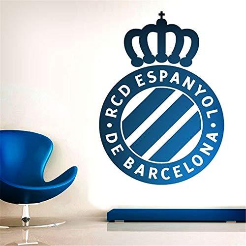 pegatinas de pared y murales Escudo del Espanyol de Barcelona para salón dormitorio.