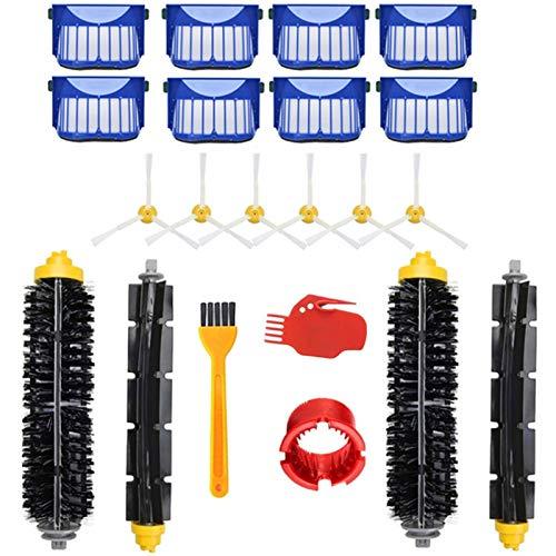 Rodillo Principal Cepillos Laterales Accesorios Filtro Ajuste De Reemplazo Fit For Irobot Roomba 600 Series 610 620 625 630 650 660 Piezas De Vacío Accesorios Para Robot Aspirador Kit de Accesorios de