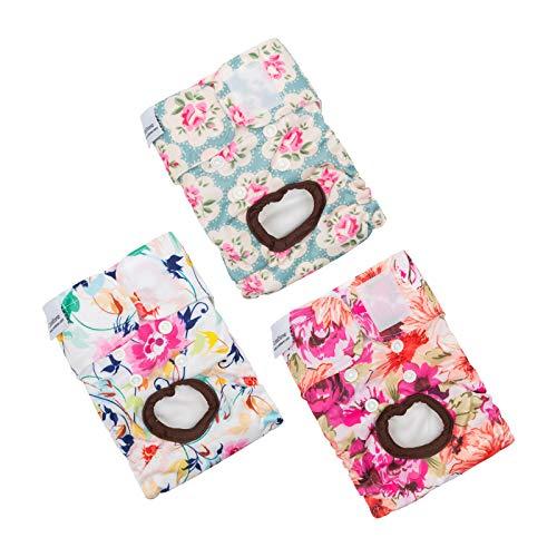 CuteBone Dog Diapers Female Medium 3 Pack for Doggie D14M
