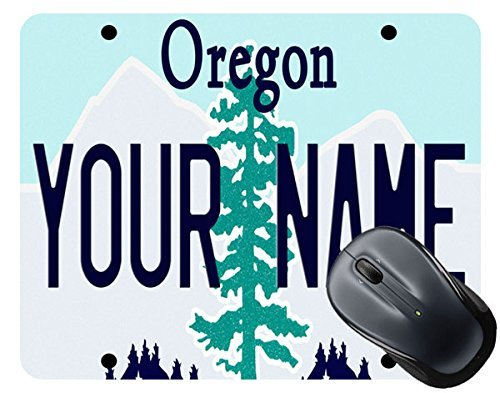 Personalize Your Own Oregon State License Plate Square Mouse Pad