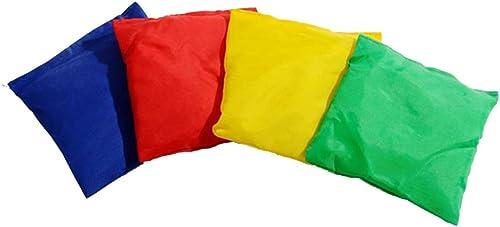 Hay más marcas de productos de alta calidad. LIOOBO 12pcs Nylon Bean Bags Fun Sports Game Bean Bag Bag Bag Carnival Toy Bean Bag Toss Game para Niño (Color Aleatorio)  ventas en linea