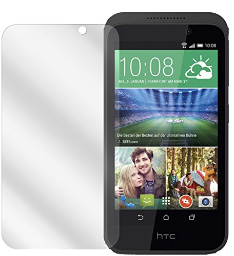 dipos I 2X Schutzfolie klar kompatibel mit HTC Desire 526G Folie Bildschirmschutzfolie