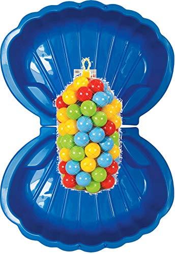 Sandbox Sandkasten Sandmuschel Muschel Wasser Planschbecken groß 108x79cm XL, 5 Farben! (2xblau+200xBälle)