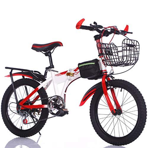 TXTC Bicicleta Nino Bici Plegable 6-7-8-10-12 Años Bicicleta Infantil Escuela Primaria De La Muchacha del Muchacho De Bici De Montaña, Regalos 18 Pulgadas Ruedas For Niño