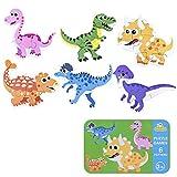 SGDD Puzzles de Madera, Rompecabezas de Dinosaurio de Madera, Puzzles...