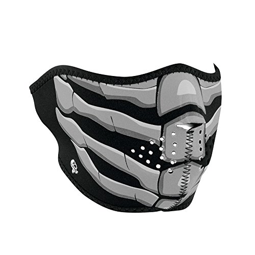 Zanheadgear Neoprene Half Face Mask, Bone Breath