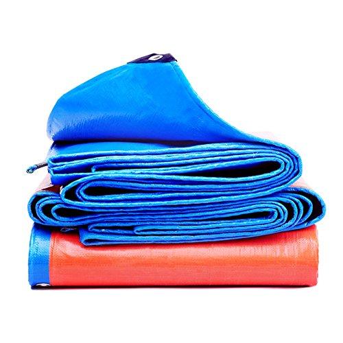CHUDAN+ Waterdichte Tarp Vloerbedekking Blauw En Oranje Outdoor Camping - 200 G / M2, Dikte 0.35 Mm