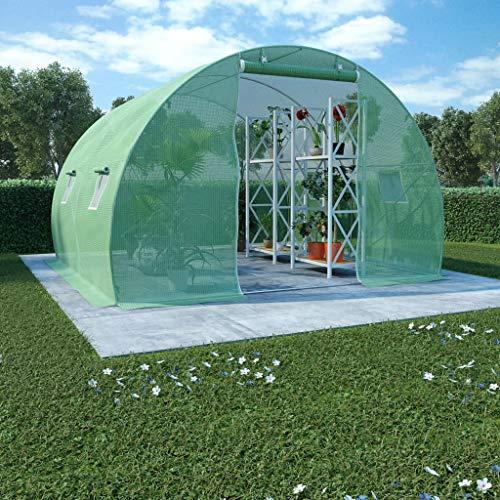 vidaXL Gewächshaus 9 m² 300x300x200 cm Treibhaus Tomatenhaus Frühbeet Garten