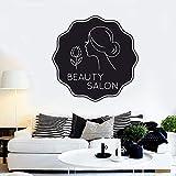 Geiqianjiumai Salón de Belleza reparación patrón cosmético Pegatinas de Pared Arte Mural salón de Belleza Mujer 57X57 CM