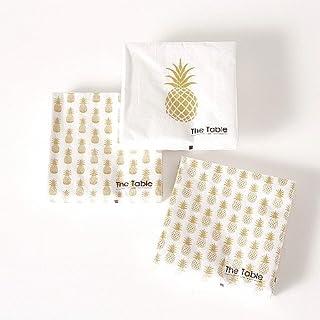 Home Collection - Fête, anniversaire, cuisine, accessoires, vaisselle - kit de 60 serviettes en papier jetable multicolore...