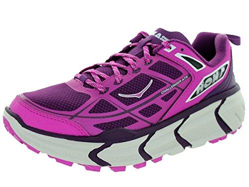 HOKA ONE ONE Womens Challenger ATR Sneaker Shoe, Fushia/Plum, US 5.5