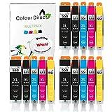 15 XL Colour Direct Compatibile cartucce d'inchiostro di ricambio per Canon CLI-551XL / PGI-550XL Pixma MG5450 MG5550 MG5650 MG6350 MG6450 MG6600 MG6650 MX925 MX725 MG7150 MG7550 iP7250 iP7200 iP8750 iX6850 Stampanti. 3X Grande Nero 3X Nero 3X Ciano 3 x magenta 3X Giallo