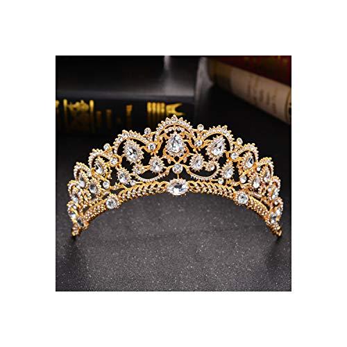 Diadema - Diadema da sposa con strass e cristalli, decorazione per capelli