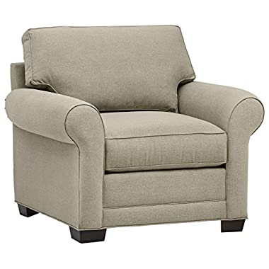 Stone & Beam Kristin Round Arm Performance Fabric Chair, 44  W, Stone