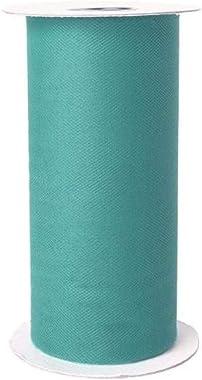 Falk Fabrics Apparel Grade Tulle Spool Teal, Creek